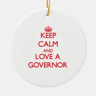 Guarde la calma y ame un gobernador ornatos