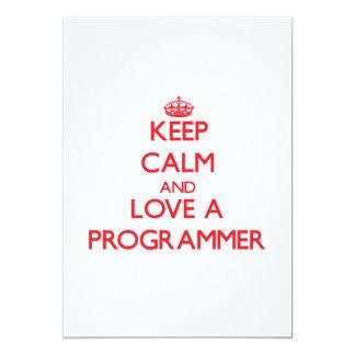 Guarde la calma y ame un programador comunicado personal