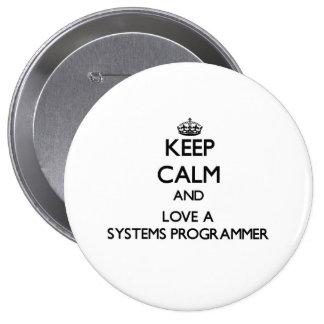 Guarde la calma y ame un programador pins
