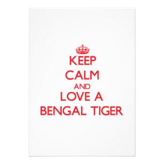Guarde la calma y ame un tigre de Bengala