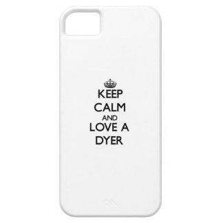 Guarde la calma y ame un tintóreo iPhone 5 Case-Mate coberturas