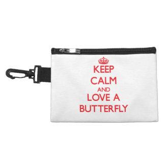 Guarde la calma y ame una mariposa