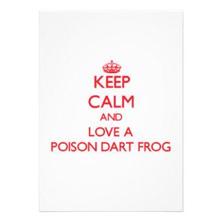 Guarde la calma y ame una rana del dardo del venen