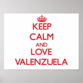 Guarde la calma y ame Valenzuela Poster