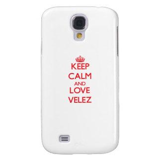Guarde la calma y ame Velez Funda Para Galaxy S4