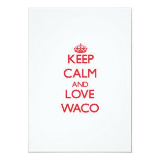 Guarde la calma y ame Waco Invitación 12,7 X 17,8 Cm