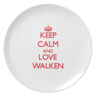 Guarde la calma y ame Walken Platos