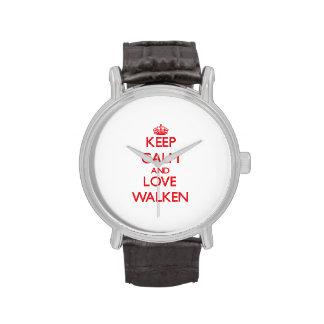 Guarde la calma y ame Walken Relojes De Pulsera