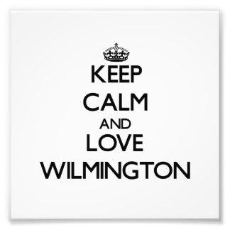 Guarde la calma y ame Wilmington Cojinete