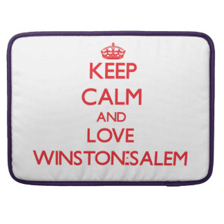 Guarde la calma y ame Winston-Salem Funda Macbook Pro
