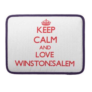 Guarde la calma y ame Winston-Salem Funda Para Macbook Pro