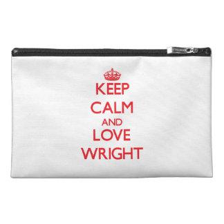 Guarde la calma y ame Wright