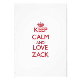 Guarde la calma y ame Zack Comunicado Personalizado