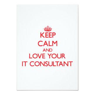 """Guarde la calma y ámela su consultor invitación 5"""" x 7"""""""