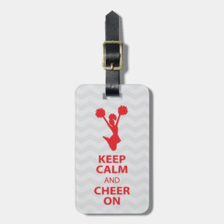 Guarde la CALMA y ANIME el rojo - etiqueta persona Etiquetas Para Maletas
