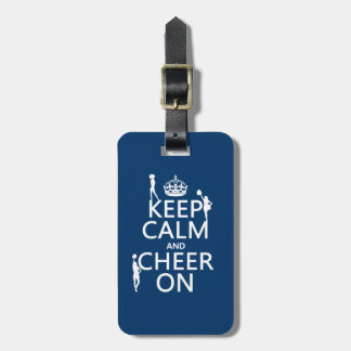 Guarde la calma y anímela en (animadoras) (cualqui etiquetas de maletas