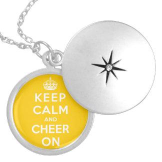 Guarde la calma y anímela encendido joyeria personalizada
