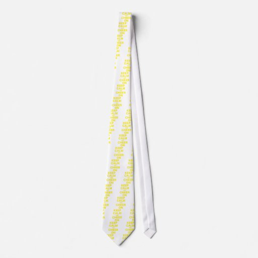 Guarde la calma y anímela encendido corbata