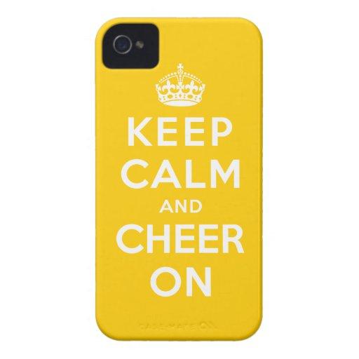 Guarde la calma y anímela encendido Case-Mate iPhone 4 cobertura