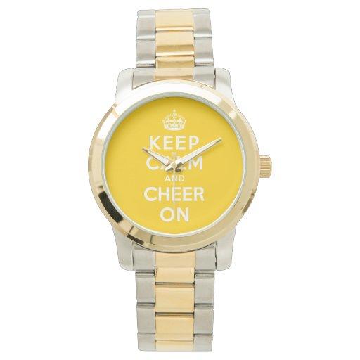 Guarde la calma y anímela encendido relojes de pulsera