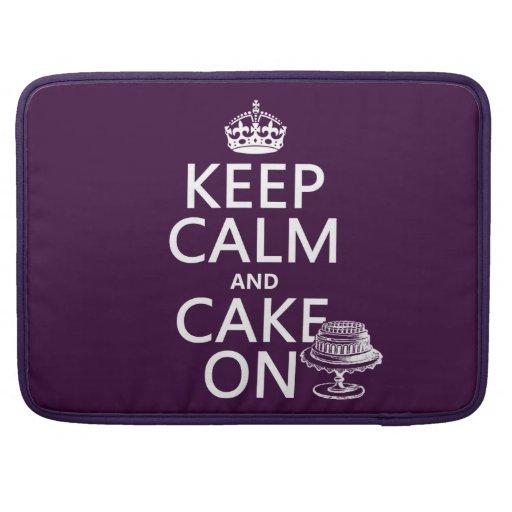 Guarde la calma y apelmácese en (el personalizable fundas para macbook pro