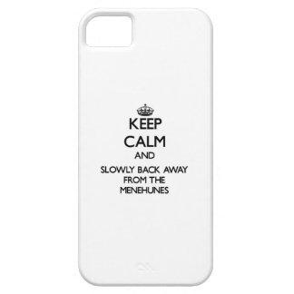 Guarde la calma y apoye lentamente lejos de iPhone 5 Case-Mate funda