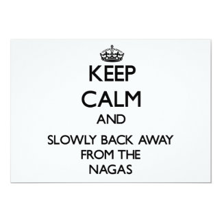 Guarde la calma y apoye lentamente lejos de Nagas Invitacion Personalizada