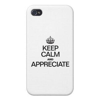 GUARDE LA CALMA Y APRECIE iPhone 4 CARCASAS