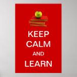 Guarde la calma y aprenda impresiones