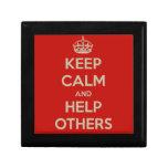 Guarde la calma y ayude a otras caja de regalo