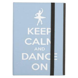 Guarde la calma y baile en azul claro