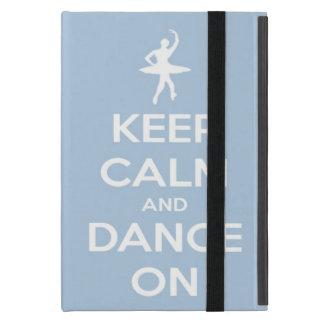 Guarde la calma y baile en azul claro iPad mini carcasas
