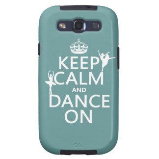Guarde la calma y baile en (ballet) (todos los col galaxy s3 protector