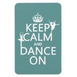 Guarde la calma y baile en (ballet) (todos los col imán de vinilo