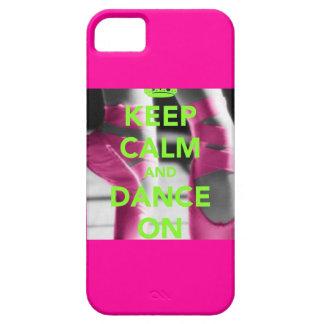 Guarde la calma y baile en el caso del iPhone 5 iPhone 5 Funda