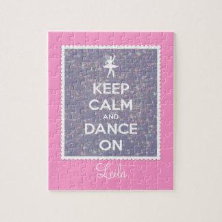 Guarde la calma y baile en la lavanda Bokeh Puzzles