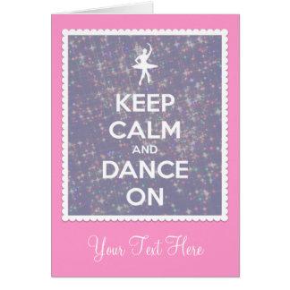 Guarde la calma y baile en la lavanda Bokeh Tarjeta De Felicitación