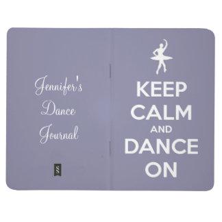 Guarde la calma y baile en la lavanda cuaderno