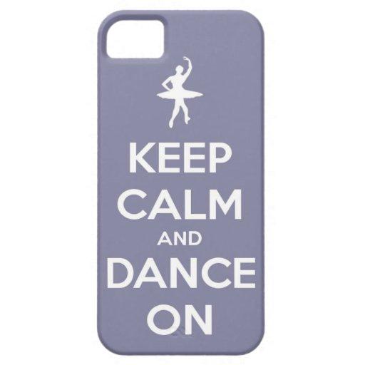 Guarde la calma y baile en la lavanda iPhone 5 fundas