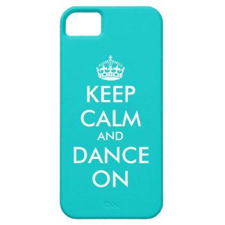 Guarde la calma y baile en personalizable del caso iPhone 5 funda