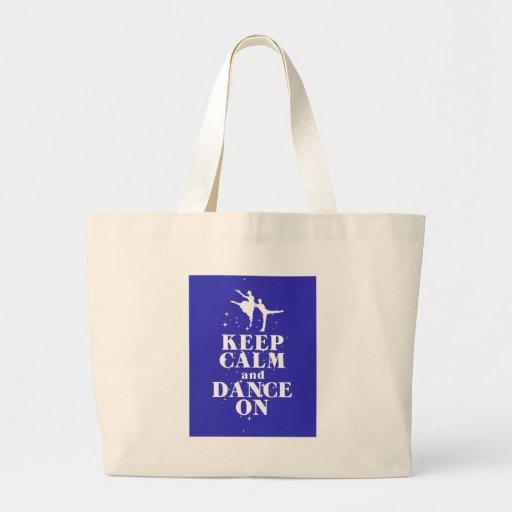 Guarde la calma y baile en presente del bailarín d bolsa de mano