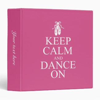 """Guarde la calma y baile en rosa de los zapatos de carpeta 1 1/2"""""""