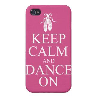 Guarde la calma y baile en rosa de los zapatos de  iPhone 4/4S carcasas