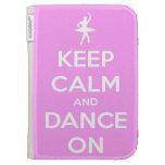 Guarde la calma y baile en rosa encienden la caja