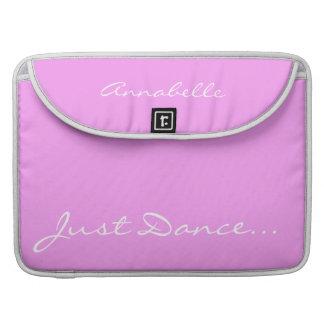 Guarde la calma y baile en rosa funda para macbooks