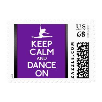 Guarde la calma y baile en sello