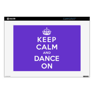 Guarde la calma y baile encendido 38,1cm portátil calcomanía