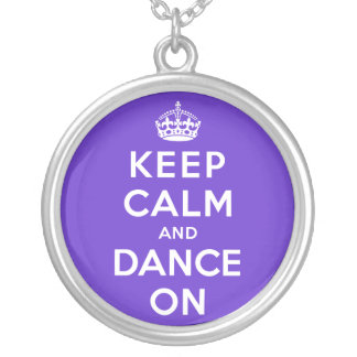 Guarde la calma y baile encendido collar