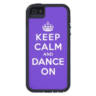 Guarde la calma y baile encendido iPhone 5 Case-Mate funda