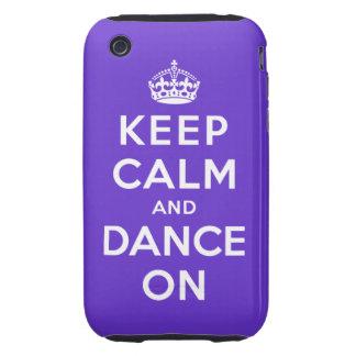 Guarde la calma y baile encendido iPhone 3 tough protector
